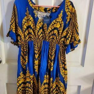 Women's REBORN Size 22 Multi Color Pullover Dress.